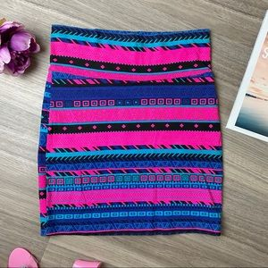 Charlotte Russe Skirt Mini Body Mandalas Pink S